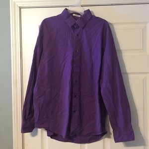Express Classic Fit Button Up Dress Shirt